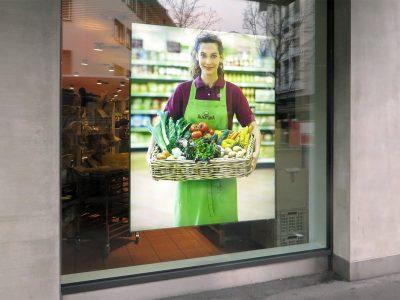 Neoprop Lichtwerbung LED-Leuchtrahmen Alnatura Migros Bio Supermarkt