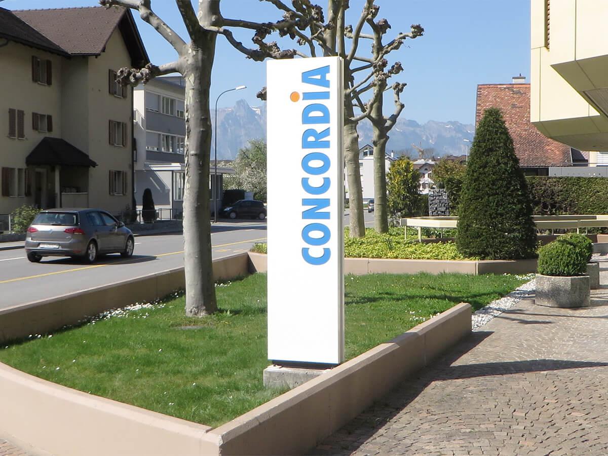 Neoprop Pylon Aussenbeschriftung Concordia