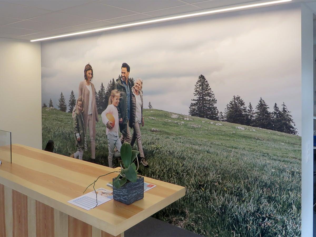 Neoprop Innenbeschriftung Raumgestaltung Folie Digitaldruck