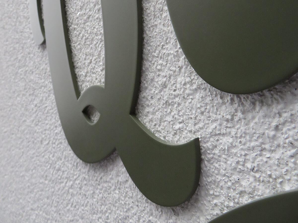 Neoprop Lichtwerbung Geowag Quartierbeck Aussenbeschriftung