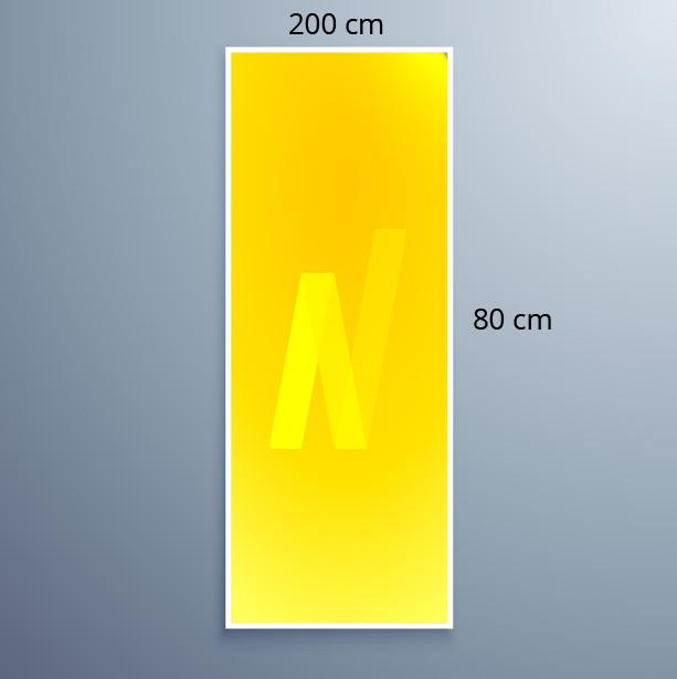 Neoprop LED-Spanntuchrahmen 80x200cm